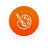 Dynamic artificial intelligence icon